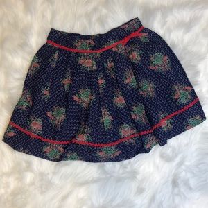Excellent condition! Monsoon navy floral skirt